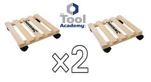 2x Home DIY General Dolly Trolley Platform Wheels 60KG Each Easy Move Heavy Item