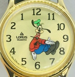 Vintage Lorus Seiko Goofy Backwards Watch Walt Disney New Band & Battery Rare