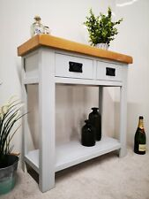 Grey Console Table / Soft Grey Hallway Unit / Painted Oak Kitchen Side Table