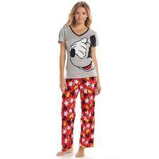 Mickey Mouse Tee & Pants Pajama Set - Disney  Size Medium (8/10)