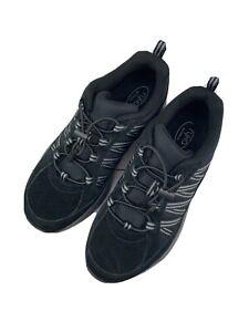 NIB Ryka $61 Suede Bungee Hiking Sneakers - Catalyst Trail- Black- Size 7 W