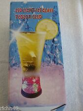 Royal Caribbean Cruise LED Light Ice Glass 7 Color Beverage Cup NEW in BOX
