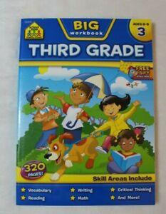 School Zone Big Workbook Third Grade - Ages 8-9  Vocabulary Reading Math Writing