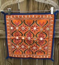 Suzani Textile Vintage Folk Art Panel Central Asia Middle Eastern Mandala