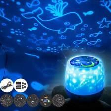LED Star Projector Night Light Sky Star Moon Mood Lamp Kids Gift Bedroom UK