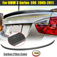 For BMW E90 Real Carbon Fiber 3-Series 4D Saloon Boot Lip Spoiler Wing 2005-2012