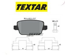 2453703 Kit pastiglie freno a disco post.Ford-Land Rover (MARCA-TEXTAR)