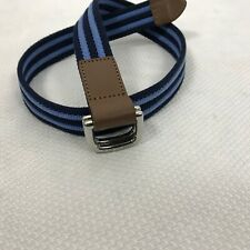 Janie and Jack 2T - 3 D-ring Belt Blue Striped