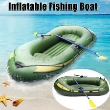 7 In 1 Inflatable Boat Set 3 Person Oars  Fishing Raft PVC Ship with