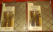 """Two """"Diamond Shape"""" Window Rod Pocket Panels 38""""X 84"""" Each New In Bag"""