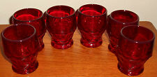 (6) ANCHOR HOCKING ROYAL RUBY GEORGIAN JUICE GLASS TUMBLERS