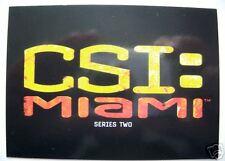 CSI: Miami Series 2 Basic Trading Card Set