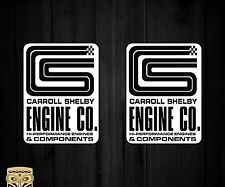 Aufkleber Decal Sticker Autocollant Adesivi Aufkleber Carrol Shelby Engine