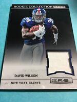 David Wilson Giants 2012 Rookie & Stars Rookie Collection Jersey #25
