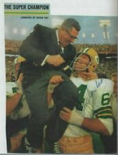 Vince Lombardi Autographed Green Bay Packers Football Sports Illustrated PSA COA
