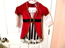 Toddler Girl Pirate Dress Costume, Size 3T-4T