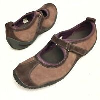 Merrell Women's Circuit MJ Brown OrthoLite Mary Jane Suede Shoes Sz 8 Eu38.5 EUC