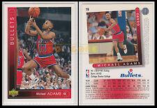 NBA UPPER DECK 1993/94 - Michael Adams # 19 - Bullets - Ita/Eng - MINT