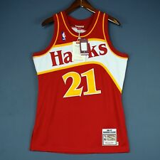 100% Authentic Mitchell & Ness Dominique Wilkins Hawks Jersey Mens Size 36 S