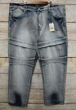 Trestles Supply Co Jeans Big Mens Size 46 Distressed Wash #1 Moto Zipper New