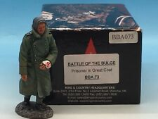 King & Country Battle Of The Bulge Prisoner In Great Coat Bba073 1/30
