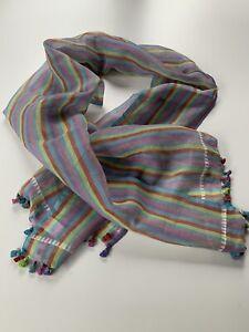 Paul Smith MULTISTRIPE SCARF 70% COTTON 30% Silk Length 180cm x 52cm BNWT