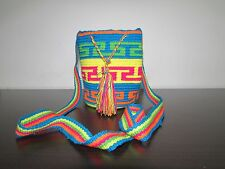 COLOMBIA WAYUU SMALL Authentic Beautiful Handmade Mochila Bag - Multicolor