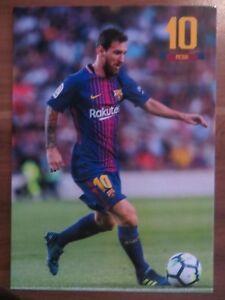 Autogrammkarte AK *LIONEL MESSI* FC Barcelona 17/18 2017/2018 Argentinien #2 RAR