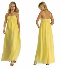 Ladies Aiko Fashions Formal Sweetheart Evening Gown Dress Size US 10 NWT Yellow