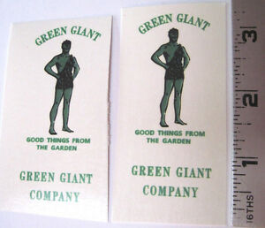 Replacement water slide decal set for Tonka Green Giant delivery stake truck