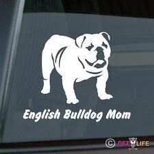 English Bulldog Mom Sticker Die Cut Vinyl - British Bull Dog