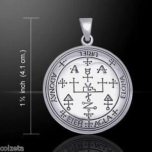"URIEL Sigil Archangel 4cm pendant ""Fire of God""925 sterling silver Peter Stone."