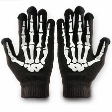 Skeleton Phone Tablet Touch Screen Gloves Unisex Bones Hands Skull Winter Mitten