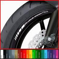 12 x HONDA FIREBLADE 1000 RR Wheel Rim Decals Stickers - 20 colors - cbr1000rr