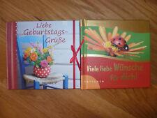 2x Buch Liebe Geburtstagsgrüße + Viele liebe Wünsche für Dich Büchlein Mitbrings