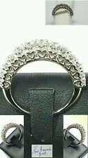 Anello Veretta  oro bianco 18 kt e diamanti naturali 0,80 ct Cuori mod. ReCarlo