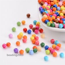 500pcs Solid Chunky Acrylic Ball Beads For DIY Jewelry and Bracelets Making 4mm