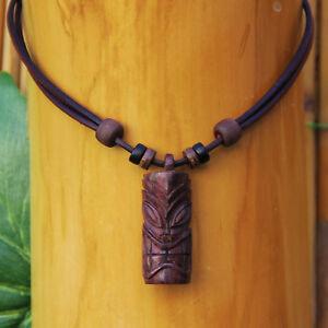 Tiki Necklace Leather Tikikette Chain Tikki Ticki Surfer Beach Goa