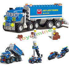 DIY 8 in 1 Truck Building Blocks Set Bricks Toys Children X'max Birthday Gift