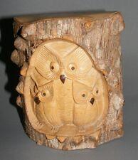 *Eule*Uhu*Vogel*Skulptur*Relief*Krokodil-Holz*Dekoration*Neu