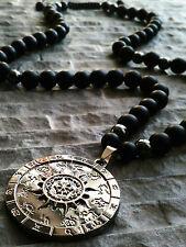 Halskette Anhänger Zeichen Sternzeichen Onyx Hämatit Schmuck herren damen