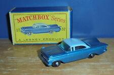 Matchbox Regular ruedas 57 Chevrolet Impala Negro Base & Wheels SC12