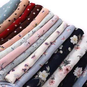 Women Muslim Scarves Printed Chiffon Hijab Scarf Head Wrap Scarf Foulard Shawls