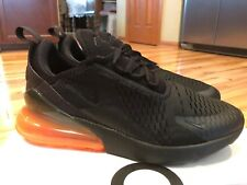 Nike Air Max 270 Black Total Orange Halloween AH8050 008 Men's Size 8.5