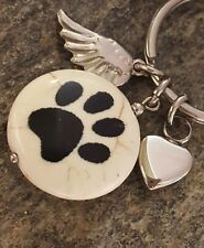 Pet Cremation Jewelry | Pet Loss | Small Pet Urn | Paw Print Urn | Paw Key Chain