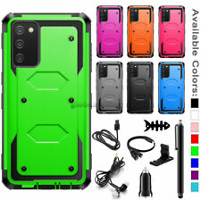 For Samsung Galaxy A02S Shockproof Case Rugged Dual Layer Cover + Accessories