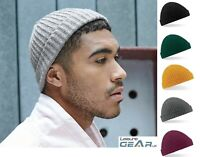 Mens Trawler Beanie Hat RETRO Ribbed Woolly Ski Skateboard Fishermans Beenie