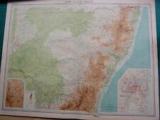1922 LARGE ANTIQUE MAP- AUSTRALIA-NEW SOUTH WALES