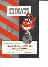 1953 Sherbrooke Indians-Quebec Braves Provincial League Program RARE!!
