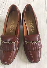 Vintage Brown Cobbies women's loafer heels shoes Excellent!